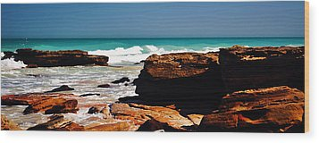 Cable Beach Broome Wood Print by Phill Petrovic