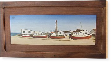 Wood Print featuring the painting Cabo Polonio 2 by Natalia Tejera