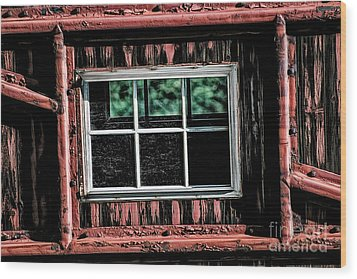 Wood Print featuring the photograph Caboose Window by Brad Allen Fine Art