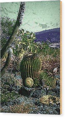 Wood Print featuring the photograph Cacti by Lori Seaman