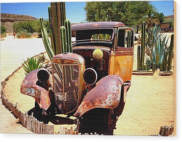 Wood Print featuring the photograph Cactus Car by Riana Van Staden