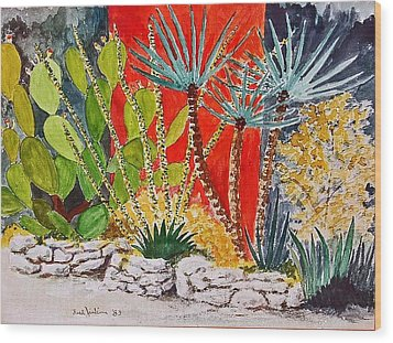 Cactus Garden  Wood Print by Fred Jinkins