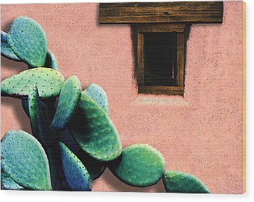 Cactus Wood Print by Paul Wear