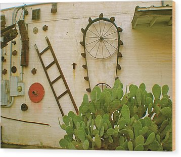 Wood Print featuring the photograph Cactus by Sheep McTavish