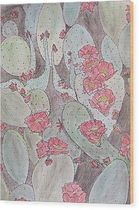 Cactus Voices #2 Wood Print