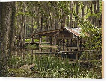 Caddo Lake Reflection Wood Print