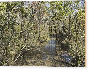 Cades Creek Wood Print
