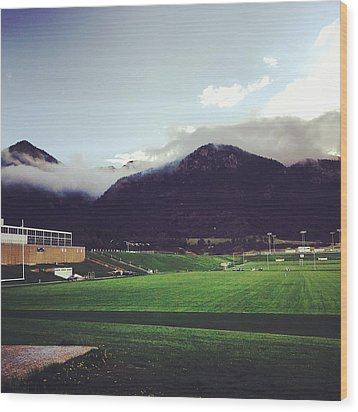 Cadet Athletic Fields Wood Print by Christin Brodie