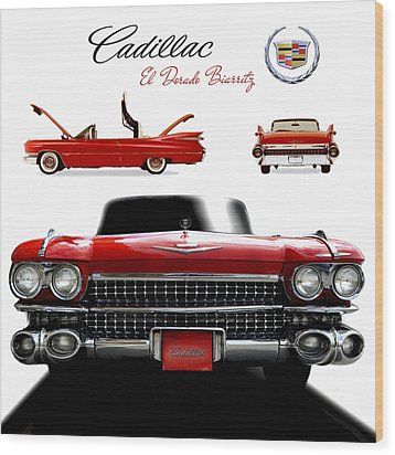 Wood Print featuring the photograph Cadillac 1959 by Gina Dsgn