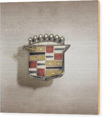 Cadillac Badge Wood Print