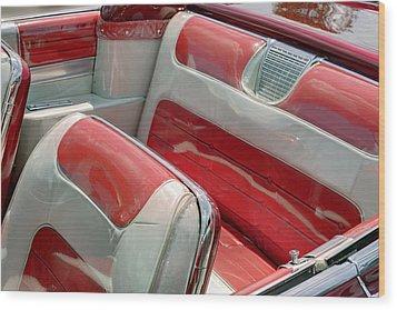 Cadillac El Dorado 1958 Seats. Miami Wood Print by Juan Carlos Ferro Duque