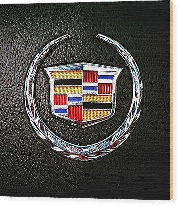 Cadillac Emblem  Wood Print