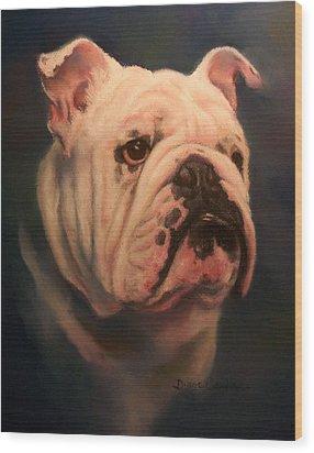 Caesar Wood Print by Diane Caudle