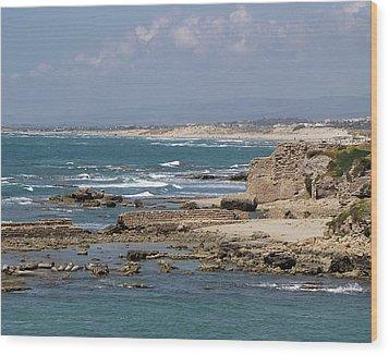 Caesarea Seascape Israel Wood Print