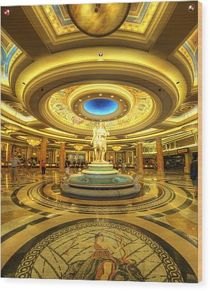 Caesar's Grand Lobby Wood Print