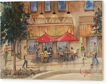 Cafe Chocolate Wood Print