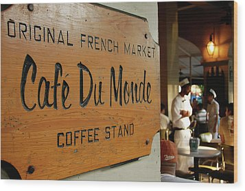Cafe Du Monde Wood Print by KG Thienemann