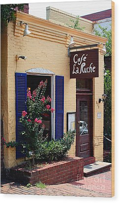 Cafe Laruche Wood Print by Adrian LaRoque