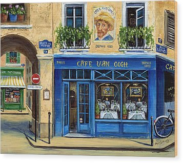 Cafe Van Gogh II Wood Print by Marilyn Dunlap