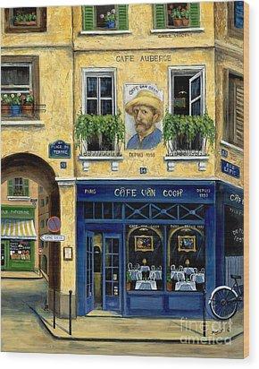 Cafe Van Gogh Wood Print by Marilyn Dunlap