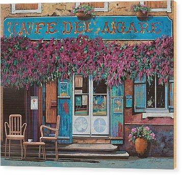 caffe del Aigare Wood Print by Guido Borelli
