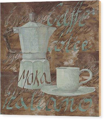 Caffe Espresso Wood Print by Guido Borelli