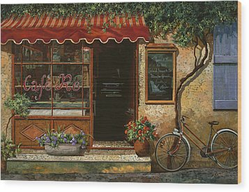 caffe Re Wood Print by Guido Borelli