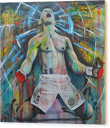 Cage Fighter Wood Print