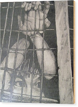 Caged Wood Print by Jean Haynes