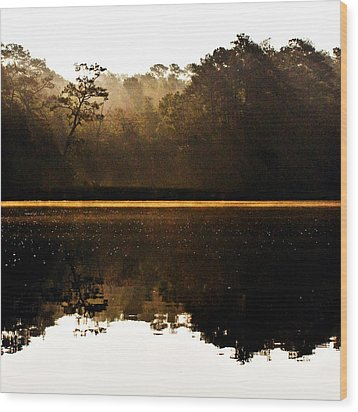 Wood Print featuring the photograph Cahooque Creek Sunrise by Bob Decker