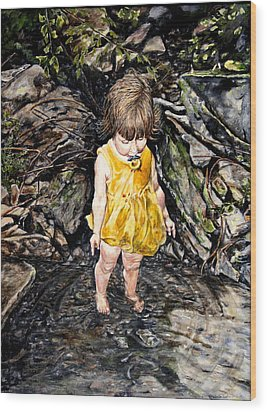 Caice At Otter Creek Wood Print by Thomas Akers