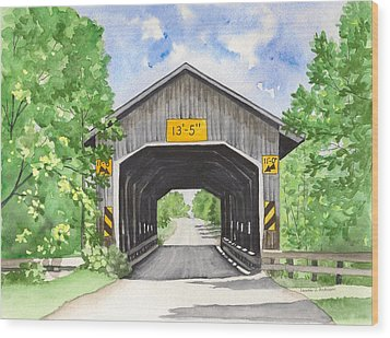 Caine Road Bridge Wood Print