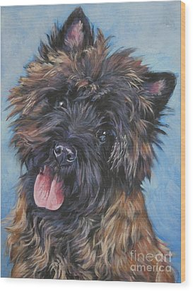 Cairn Terrier Brindle Wood Print by Lee Ann Shepard