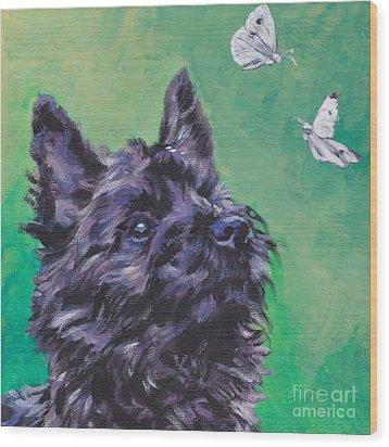Cairn Terrier Wood Print by Lee Ann Shepard