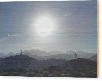 Cajon Pass Sunset Wood Print by Karen J Shine