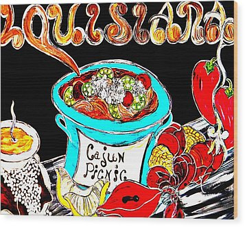 Cajun Picnic No.2 Wood Print by Amy Carruth-Drum