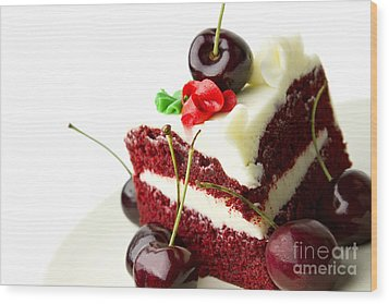 Cake Wood Print by Blink Images