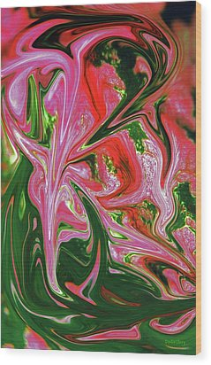 Caladium Wood Print by Dodie Ulery