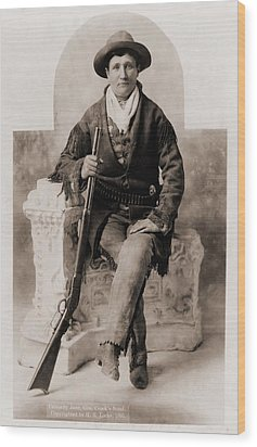 Calamity Jane 1852-1903, Was A Scout Wood Print by Everett