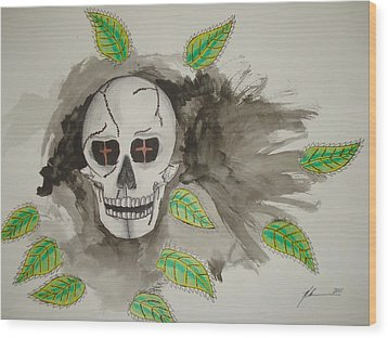 Calavera Wood Print