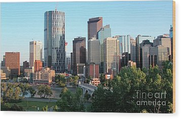 Calgary 2 Wood Print by Victor K