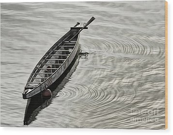 Calgary Dragon Boat Wood Print by Brad Allen Fine Art