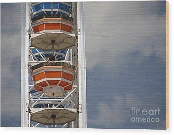 Wood Print featuring the photograph Calgary Stampede Ferris Wheel by Wilko Van de Kamp