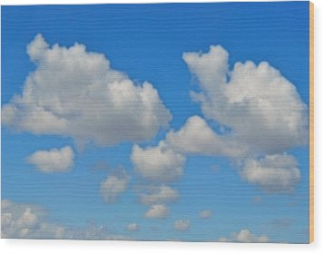 Wood Print featuring the photograph Calgary's Sky by Evelina Popilian