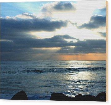 Cali Sunset Wood Print