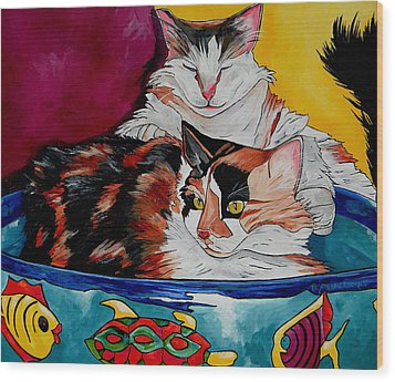 Calico And Et Wood Print by Patti Schermerhorn
