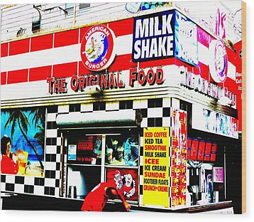 Califorinia Burger Joint  Wood Print