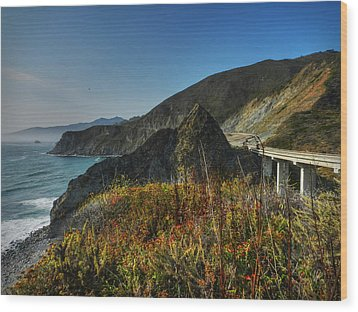 California - Big Sur 011 Wood Print by Lance Vaughn