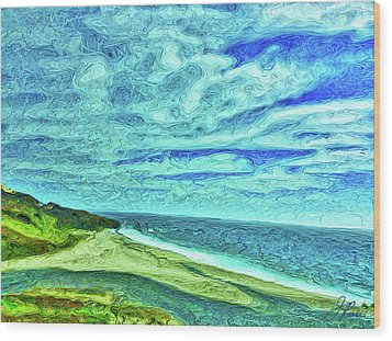 California Coast Wood Print