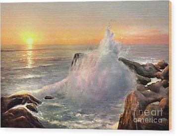 California Coast Wood Print
